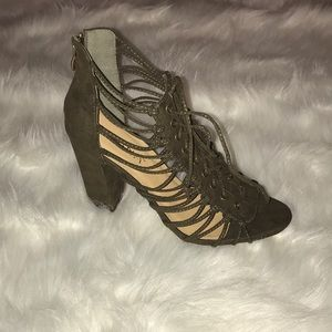 Shoes - Brand New Olive Green Heels